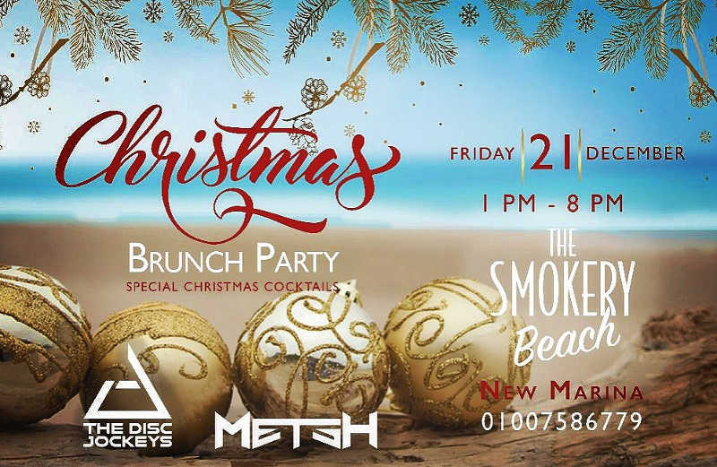 The smokery beach celebration for Christmas in El Gouna Red Sea