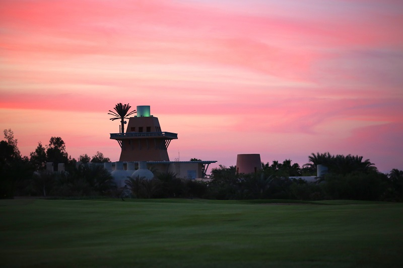 El Gouna golden hour at Steigenberger tower and the magical view of sunset