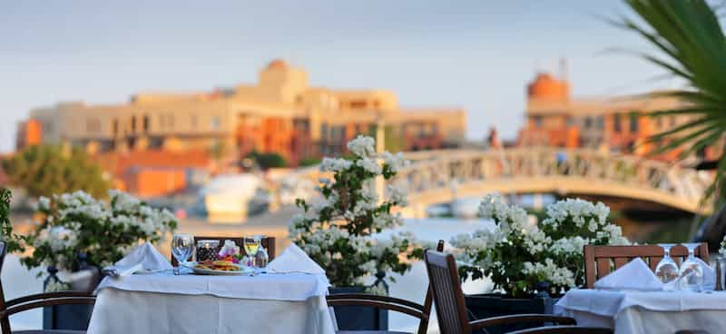 Dining in El Gouna with a view of Abu Tig Marina and fresh breeze