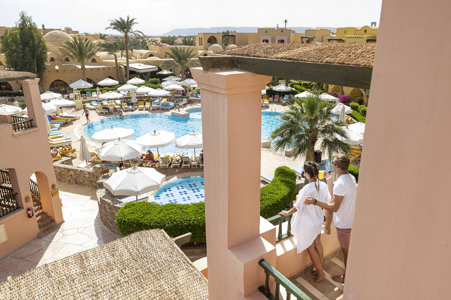 Terrace view on Rihana Resort Sunset Pool El Gouna Red Sea Egypt