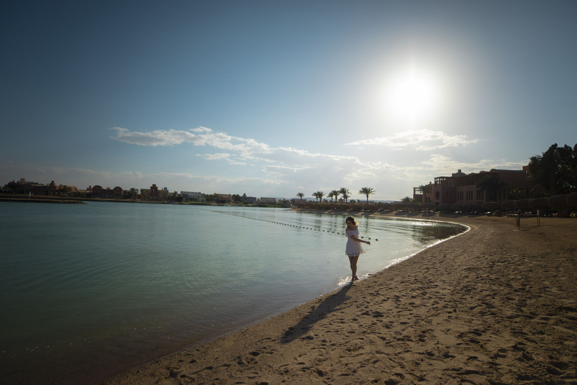 A female Guest on the Beach Steigenberger Golf Resort El Gouna Red Sea
