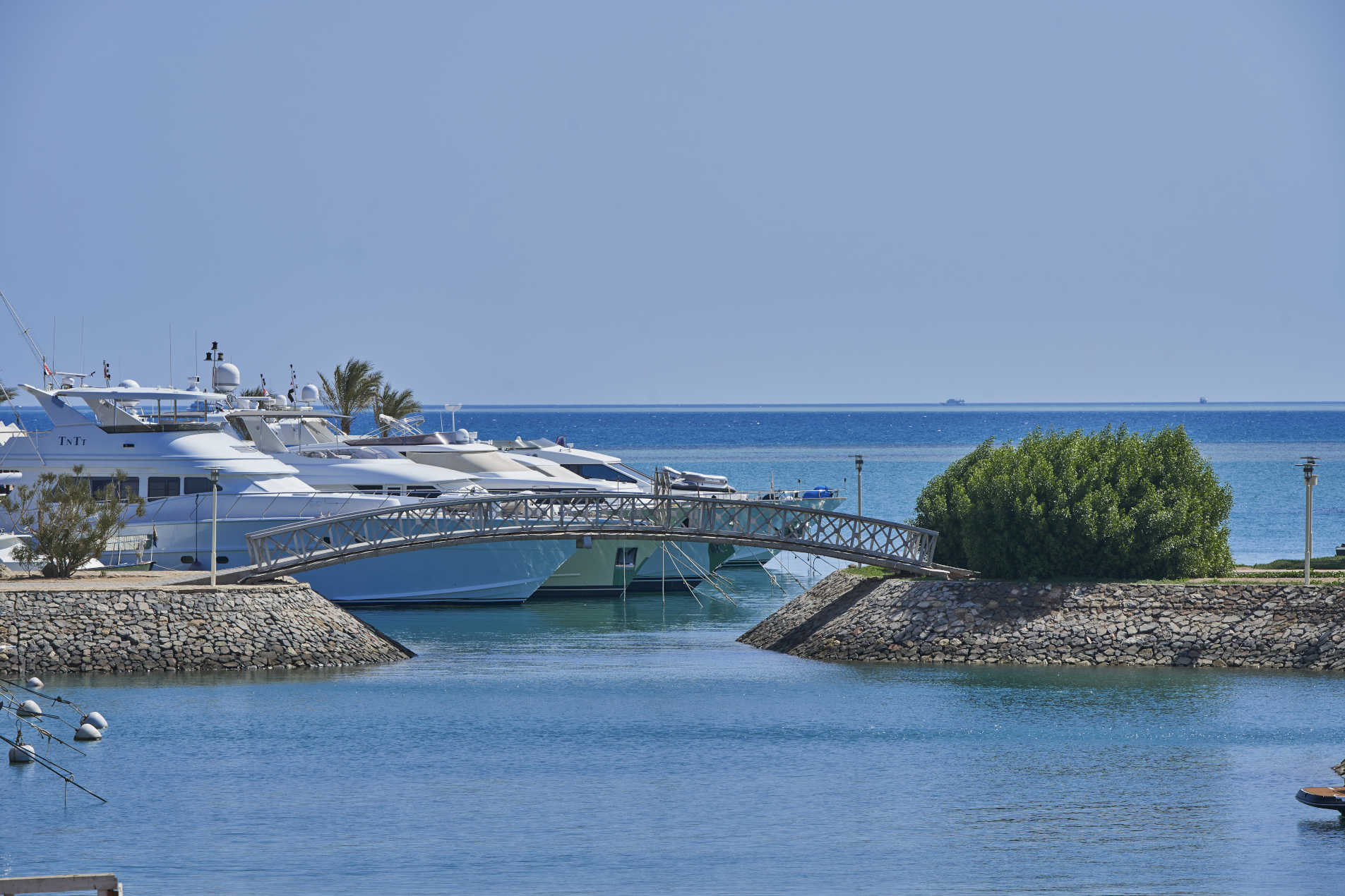 a view of the marina and yachts dock in abu tig marina el gouna from captain's inn hotel