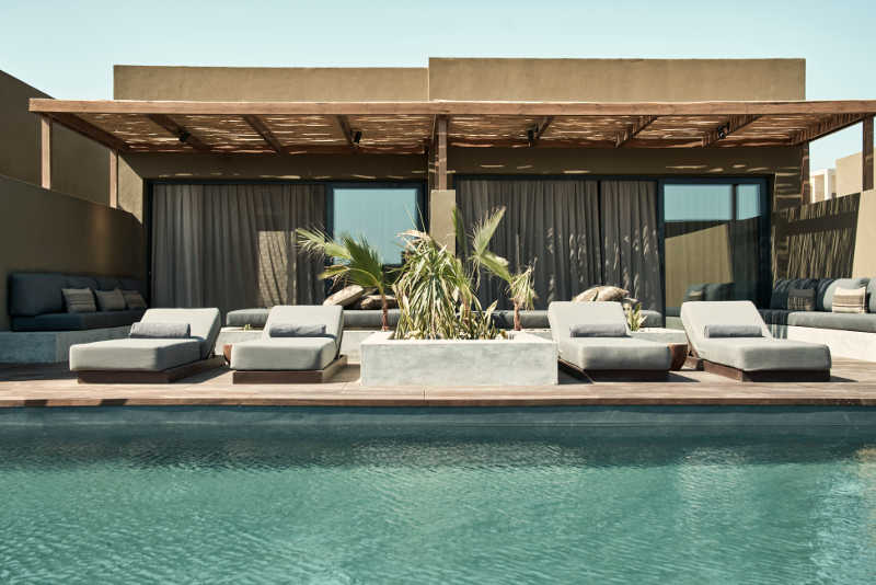 The joint pool of Casa Cook Resort El Gouna with laidback sunbeds