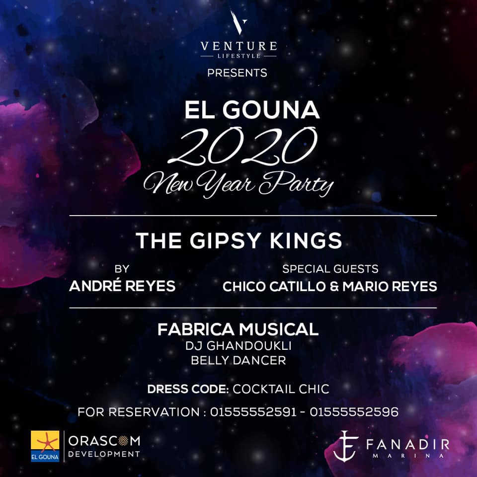 The Venue at El Gouna Celebration for the new year with legends The Gipsy Kings