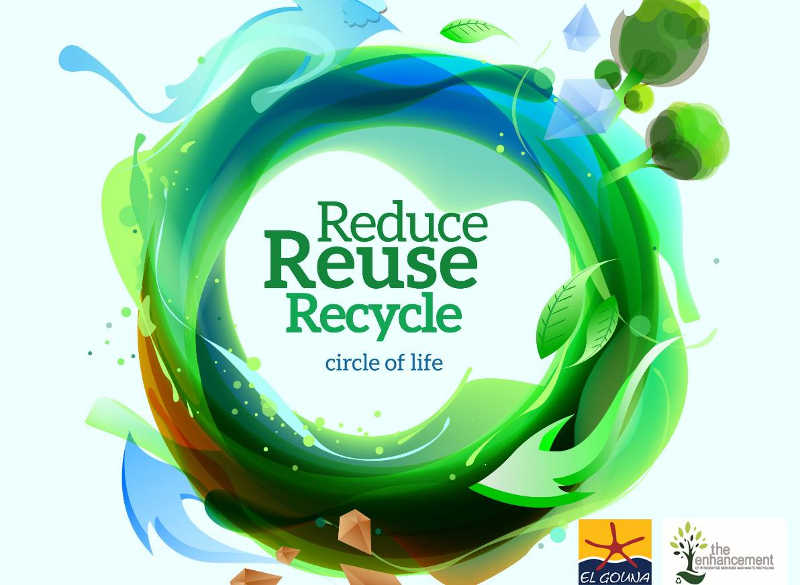 El Gouna recycling program for a sustainable green resort in Red Sea Egypt