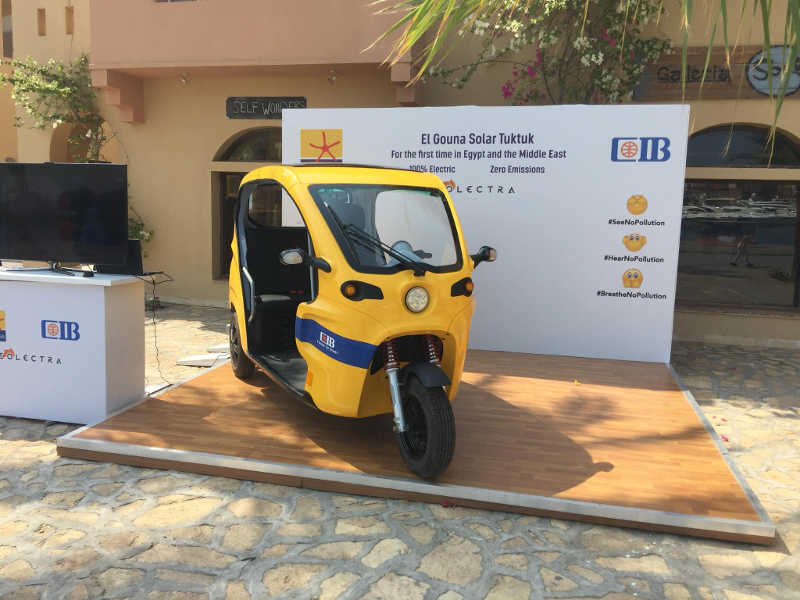 Solar tuk tuk I El Gouna for clean air and sustainable environment in Red Sea Egypt