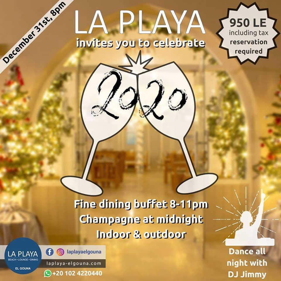 La Playa fine dining buffet for new year's eve party in El Gouna