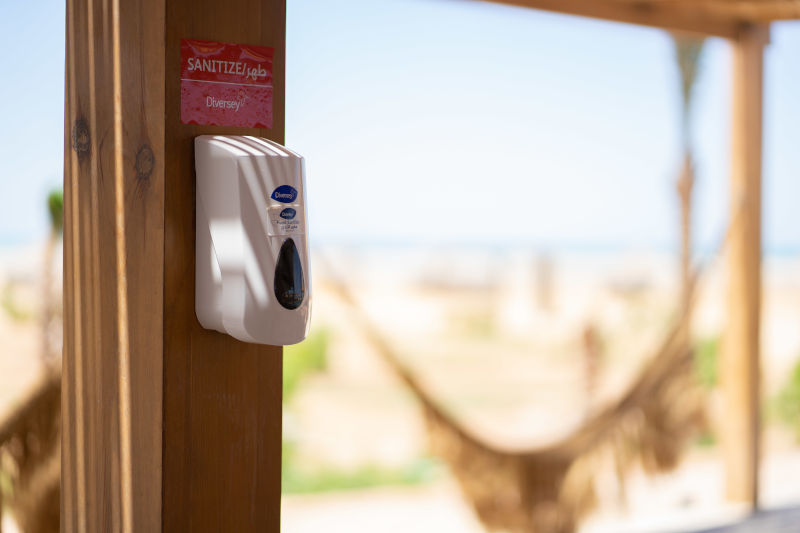 sanitizer box inside el gouna hotels premises