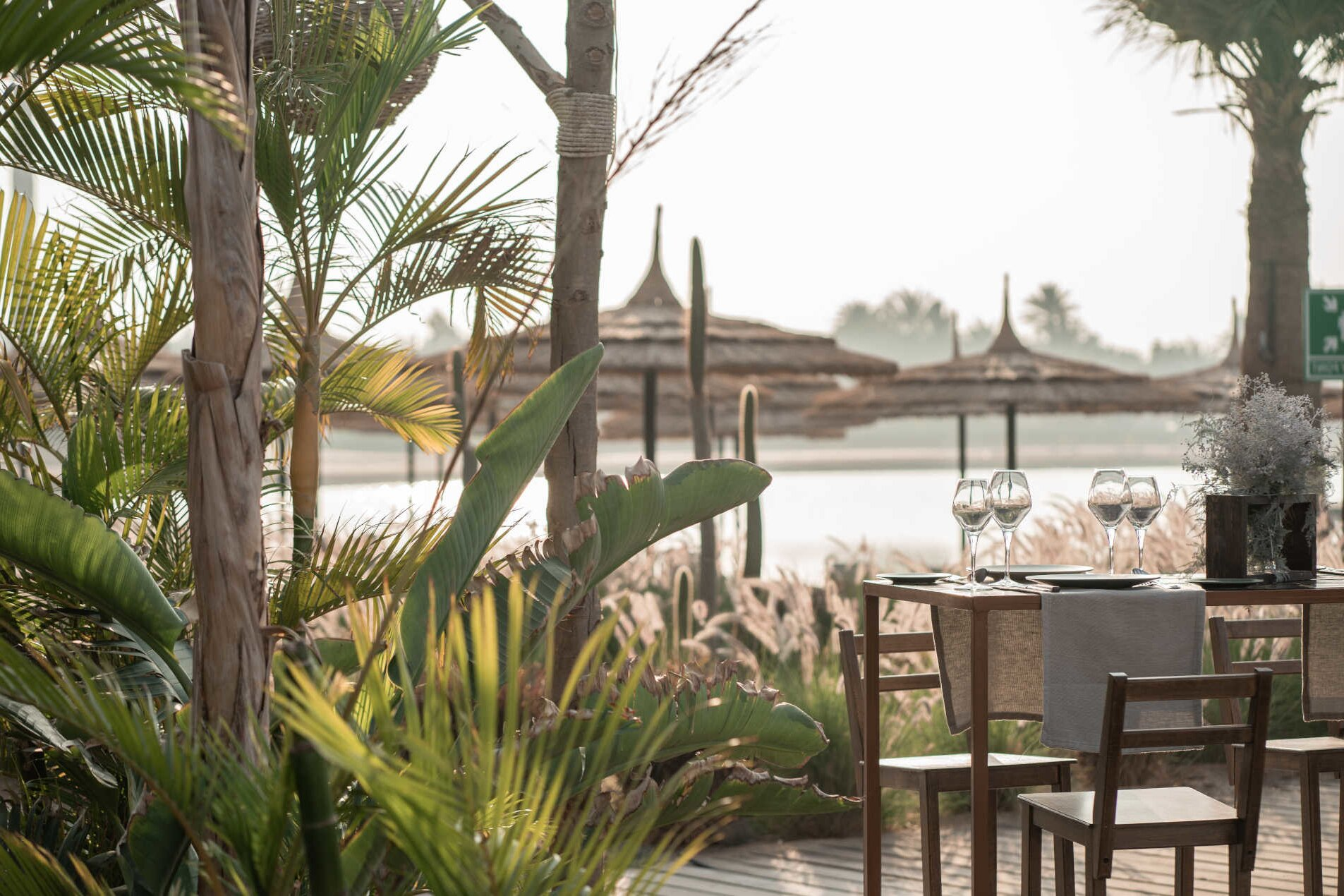 The outdoor wedding venue at Cook's Club Hotel in El Gouna, special occasions venues in Red Sea